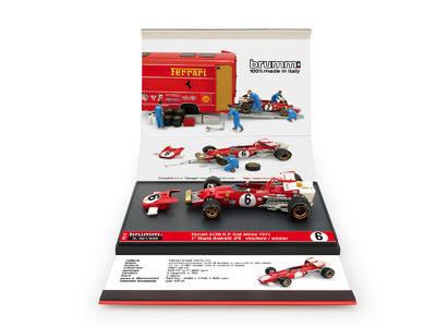 """Ferrari 312B """"1º GP. Sudáfrica"""" nº 6 Mario Andretti (1971) Brumm P010 1:43"""