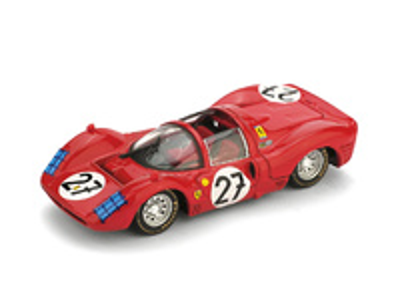 Ferrari 330P3 Spyder Le Mans nº 27 Rodriguez - Ginther Escuderia N.A.R.T. (1966) Brumm R158 1/43