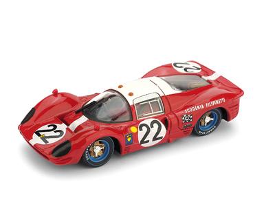 Ferrari 412P Le Mans nº 22 Guichet - Mueller Escuderia Filipinetti (1967) Brumm 1/43