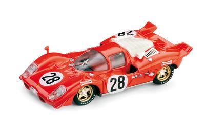 """Ferrari 512S """"24h Daytona"""" nº 28 Andretti - Merzario - Ickx Esc. Ferrari (1970) Brumm 1/43"""