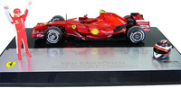 "Ferrari F2007 ""GP. Brasil"" nº 6 Kimi Raikkonnen (2007) Hot Wheels 1/18"