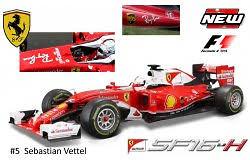"""Ferrari SF16-H """"Ray Ban"""" nº 5 Sebastian Vettel (2016) Bburago 1/18"""