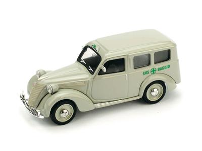 """Fiat 1100 Ambulancia """"Cruz Verde de Baggio Milano"""" (1947) Brumm 1/43"""