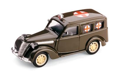 """Fiat 1100 """"Cruz Roja Militar Italiana"""" (1947) Brumm 1/43"""