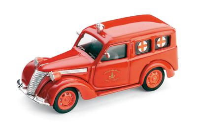 "Fiat 1100 ""Cuz Roja Bomberos Italianos"" (1947) Brumm 1/43"