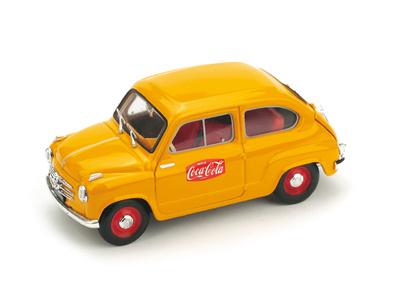 "Fiat 600 1a serie (1955) ""Coca Cola GP. Italia Monza"" (1961) Brumm 1/43"