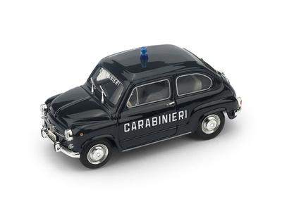 Fiat 600 D (1965) Carabinieri Brumm R403 1/43