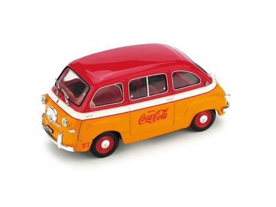 """Fiat 600 Multipla """"Coca-Cola Olimpiadas de Roma"""" (1960) Brumm 1/43"""