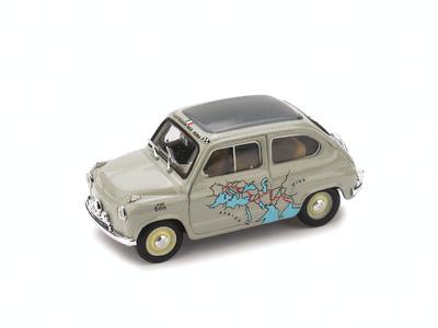 """Fiat 600 """"Raid Roma-Calcuta"""" (1955) Brumm 1/43"""
