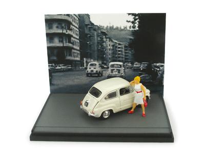 "Fiat 600D ""Ley Merlin"" con Figura (1958) Brumm 1/43"