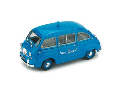 "Fiat 600D Multipla ""Polizia Municipale Roma"" (1964) Brumm 1/43"