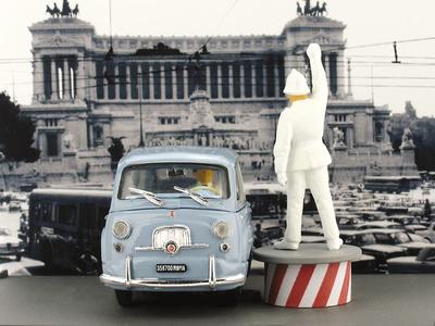 Fiat 600D Multipla con Guardia (1960) Brumm 1/43