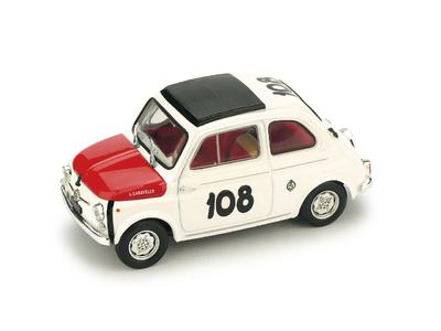 "Fiat Abarth 595 ""1º Coppa Gallega"" nº 108 Leonardo Dürst (1965) Brumm 1/43"