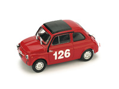 "Fiat Abarth 595  ""1º Premio Campagnano"" nº 126 Raffaele Pinto (1965) Brumm 1/43"