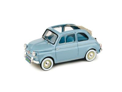 """Fiat Nuova 500 """"Versión America"""" Techo Abierto (1958) Brumm 1/43"""