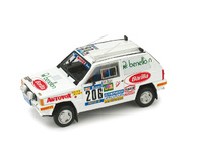 Fiat Panda 4x4 Paris-Dakar nº 206 H. Mariane - D. Evelyne (1984) Brumm 1/43