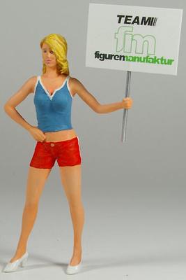 Figura Señorita con cartel de posición Figurenmanufaktur 1:18