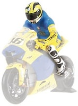 "Figura de Valentino Rossi nº 46 ""GP. Sachsenring"" (2006) Minichamps 1/12"