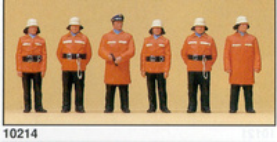 Figuras Bomberos con Traje protecc. Preiser 1/87