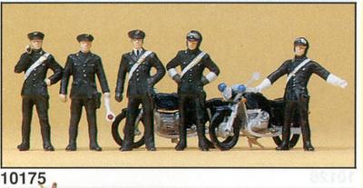 Figuras Carabinieri con Motos Preiser 1/87