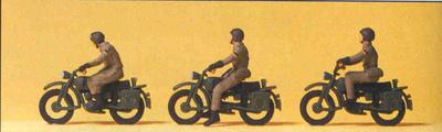 Figuras Motos Militares Preiser 1/87
