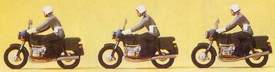 Figuras Policia Militar con Motos Preiser 1/87