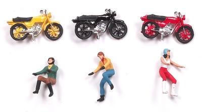 Figuras en moto Aneste 1/87