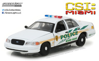 "Ford Crown Victoria Interceptor Policia Miami-Dade ""CSI"" (2003) Greenlight 1/43"