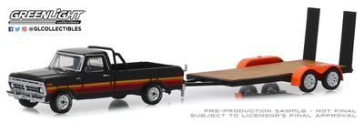 Ford F-100 con remolque plataforma (1977) Greenlight 1/64