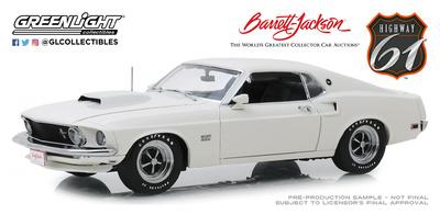 """Ford Mustang Boss 429 """"Barret Jackson 2018"""" Lote 1410 (1969) Greenlight 1/18"""