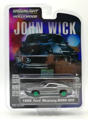 """Ford Mustang Boss 429 """"John Wick"""" (1969) Greenlight 1/64"""