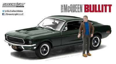 "Ford Mustang GT Fastback ""Bullit"" con figura (1968) Greenlight 1/43"