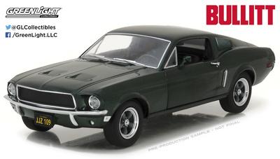 """Ford Mustang GT Fastback """"Bullitt"""" (1968) Greenlight 1/24"""