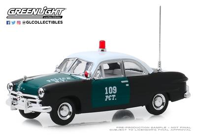 """Ford Policía de Nueva York """"NYPD"""" (1949) Greenlight 1/43"""