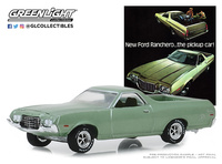 "Ford Ranchero ""New Ford Ranchero…The Pickup Car"" (1972) Greenlight 1/64"