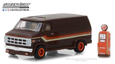 GMC Vandura con poste de gasolina (1978) Greenlight 1/64