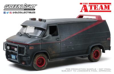 "GMC Vandura furgoneta ""El Equipo A versión tiroteada"" (1983) Greenlight 1/18"