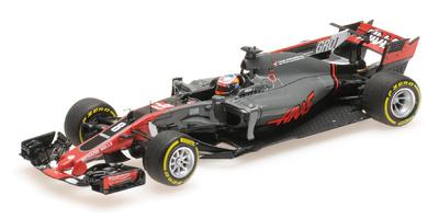 """Haas VF-17 """"GP. España"""" nº 8 Romain Grosjean (2017) Minichamps 1:43"""