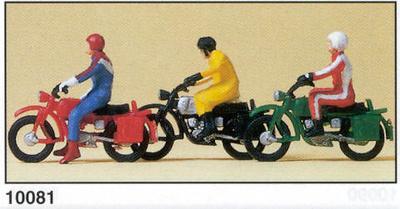 Hercules Motos con figuras Preiser 1/87