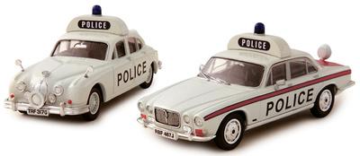 "Jaguar MK2 3.8 y Jaguar XJ6 Series 1 4.2 ""Policia de Staffordshire"" Corgi 1/43"