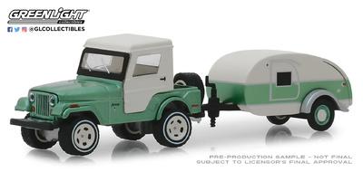 Jeep CJ-5 techo duro + Teardrop (1972) 1/64