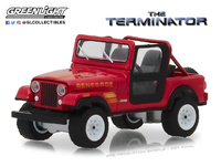 "Jeep CJ-7 Renegade ""The Terminator"" Sarah Connor's (1983) Greenlight 1/64"