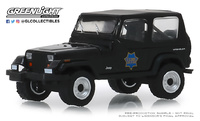 "Jeep Wrangler ""Policía de San Francisco"" (1994) Greenlight 1/64"