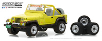 Jeep YJ con neumáticos recambio (1991) Greenlight 1/64