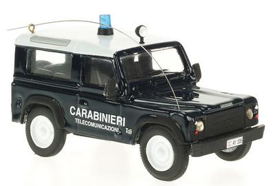 """Land Rover Defender 80 """"Carabinieri Telecomunicazione"""" (1990) Giocher 1/43"""