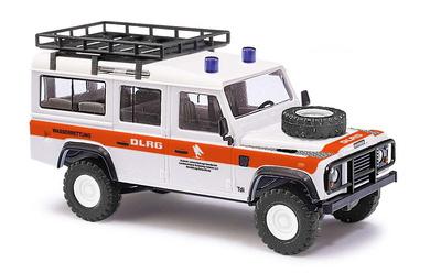 """Land Rover Defender """"DLRG"""" con baca (1990) Busch 1:87"""