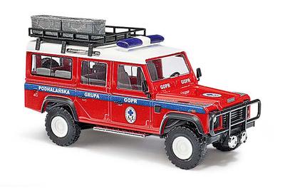 """Land Rover Defender """"GOPR"""" Salvamento Alpino Polaco (1990) Busch 1:87"""