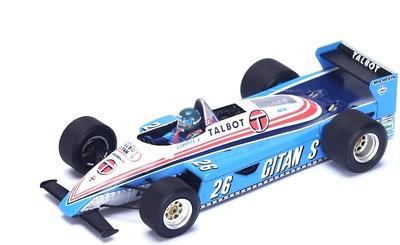 """Ligier JS19 """"GP. Austria"""" nº 26 Jacques Laffite (1982) Spark 1:43"""