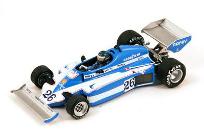 """Ligier JS7 """"1º GP. Suecia""""  nº 26 Jacques Laffite (1977) Spark 1/43"""