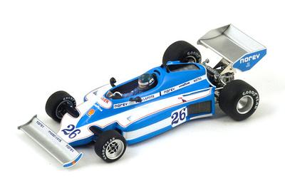 "Ligier JS7 ""GP. Brasil"" nº 26 Jacques Laffite (1977) Spark 1:43"